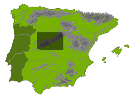 Location on map of Spain